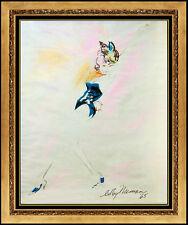 LeRoy Neiman Original Pastel Painting Signed Nude Femlin Portrait Playboy Art