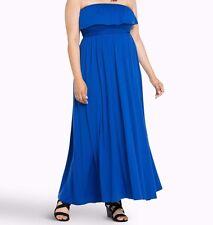 Torrid Smocked Tube Maxi Dress Blue 00X Med Large 10 00 #1176