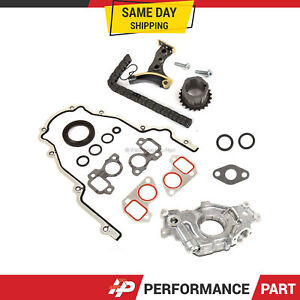 Timing Chain Kit Cover Gasket Oil Pump for 07-16 GMC Cadillac Buick 5.3 6.0 6.2