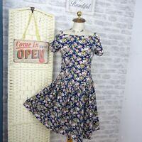 vintage ditsy floral tea dress cotton princess boho grunge age 12/13   D655