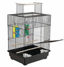 Parakeet Bird Cage Large Parrot Stand Feeder House Vintage Perch Play Pet Supply