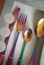 Unicorn Rainbow 16 Piece Stainless Steel Cutlery Pink Blue Green Fork Knife