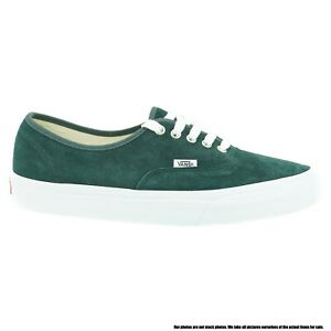 VN0A38EMU5J VANS Authentic Pig Suede (Darkest Spruce) Men Shoes Size 12