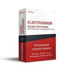 Elektroniker Einstellungstest Komplettpaket I Eignungstest online üben