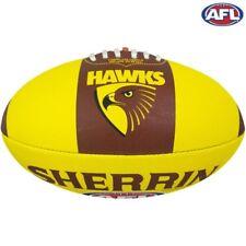AFL Footy Hawthorn Hawks Sherrin Synthetic Football Size 5