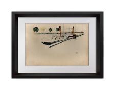 "Egon SCHIELE Lithograph SIGNED #'ed Ltd Ed: 100 ""Paddle Steamer"" 1912 +FRAMING"