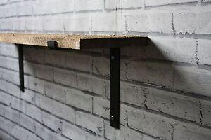 Metal Shelf Brackets Scaffold Board Industrial Rustic Steel Shelving (Set of 2)