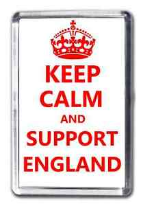 Keep Calm And Support England Fridge Magnet Football Euro 2016 Collectable