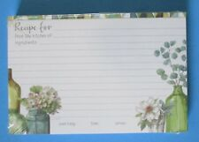 Greenery Bottles pack 50 RECIPE CARDS Legacy housewarming gift