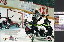 a6114247e HOFer Brett HULL Celebrates THE 99 Dallas STARS CUP WIN Signed 11X14 JSA  COA !