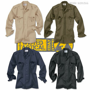 Surplus Mens Military Long Sleeve Shirts, Army Police Security Casual Work Wear