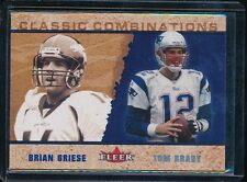 TOM BRADY/GRIESE 2002 FLEER CLASSIC COMBINATIONS FOIL INSERT # 7 #D/2000 SP!