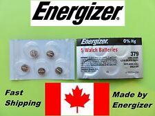 5 pcs Energizer Battery  Batteries 379 (SR521SW) Original Silver Oxide  0%HG