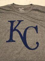 NWT Kansas City Royals Shirt Mens T-Shirt Size XL Dark Heather Grey Throwback