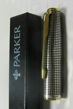 Parker Sonnet Sterling Silver Cisele Fountain Pen Cap In Box