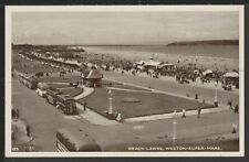 Beach Lawns Weston-super-Mare Somerset Vintage Postcard