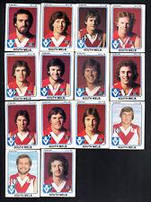 1981 VFL SCANLENS CARDS - SOUTH MELBOURNE TEAM X 14