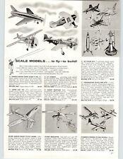 1959 PAPER AD Thimble Drome Comet Mustang Model Airplane Super Cub Saber F-100