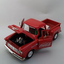 Coca-Cola '55 Chevy Stepside Pickup with Cooler (1:24 Scale) - BRAND NEW