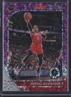 2019-20 HOOPS PREMIUM STOCK PURPLE DISCO PRIZM RUSSELL WESTBROOK #129A