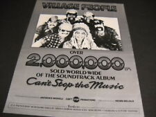 Village People 2 million of Can'T Stop The Music sold Original Promo Poster Ad