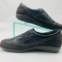 Naot Casual Shoes Clogs Black Loafer Womens 10 EU 43 Slip Ons Leather Sneakers