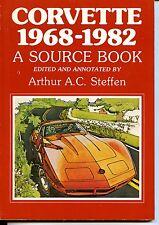CORVETTE 1968-1982 SOURCE BOOK, STEFFEN,  VINTAGE 1983 NEW CAR BOOK  On Sale