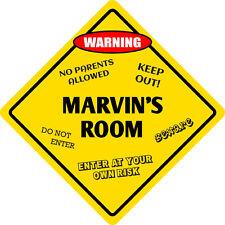 """*Aluminum* Marvin's Room Kids Room Door 12""""x12""""  Metal Novelty Sign"""