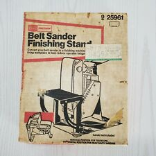 Sears Craftsman Vintage Belt Sander Finishing Stand Tool 9 25961