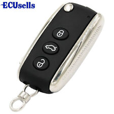 NEW 3 Button Replacement Uncut Folding Remote Key Shell Case Fob for Bentley