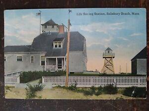 Life Saving Station, Salisbury Beach, MA - 1914, Rough Edges, Bent Corners
