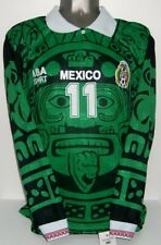 ABA SPORT MEXICO 1996 LONG LS CUAUHTEMOC BLANCO XL ORIGINAL JERSEY SHIRT