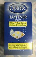 Optrex Hayfever Relief Drops Relief & Soothes Itchy Red Sore and Watery Eyes