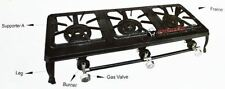 New 14kw Cast Iron Triple Burner Gas Burner Cooker Boiling Ring Camping Catering