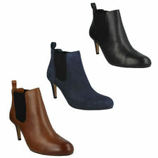 Leather Pull On Slim Heel Casual Boots for Women