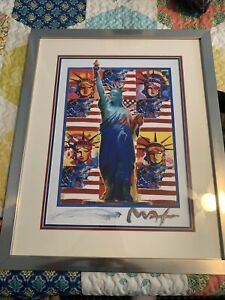 "PETER MAX ""GOD BLESS AMERICA - FIVE LIBERTIES"" 