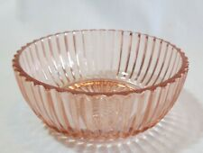 """Hocking Glass Queen Mary Pink Depression 4 ½"""" Individual Berry Bowl(s)"""