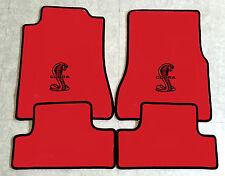 Autoteppich Fußmatten für Ford Mustang Cobra Shelby 2013-2014 rot schwarz Neu