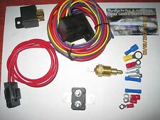 ELECTRIC FAN WIRING INSTALL KIT HD COMPLETE THERMOSTAT On  185° Off 170 SBC BBC