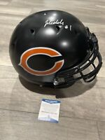 JUSTIN FIELDS SIGNED Chicago Bears Full Size HELMET Authentic Bears AUTO Beckett