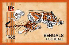 CINCINNATI BENGALS - RETRO LOGO POSTER - 22x34 NFL FOOTBALL 13169