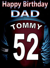 WEST HAM FOOTBALL FAN Personalised Birthday Card!! any name/number/relation..