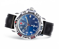 Vostok Komandirskie 2414/811289 Watch 17 Jewels Mechanical Mens Soviet Watch