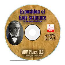Expositions of Holy Scripture, Alexander Maclaren, Christian Bible Study CD F29