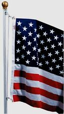 SFP18F-S Valley Forge 3'x5' Poly United States USA AMERICAN FLAG SET Heavy Duty!