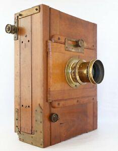 Chambre photographique 13x18 soufflet cuir objectif