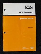 ORIGINAL CASE 170C CRAWLER EXCAVATOR OPERATORS MANUAL 107 PAGES NICE ONE
