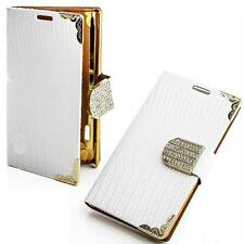 Book Style Tasche Samsung i8190 Galaxy S3 mini Glitzer Handy Etui Strass Case