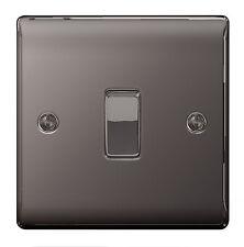 5 x BG Nexus Metal NBN12 - BLACK NICKEL Chrome Single Switch 1 Gang 2 Way