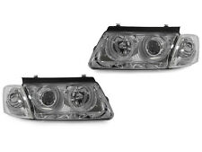 Chrome Projector Halo Headlight + Clear Corner Lights For 1998-2000 VW Passat B5